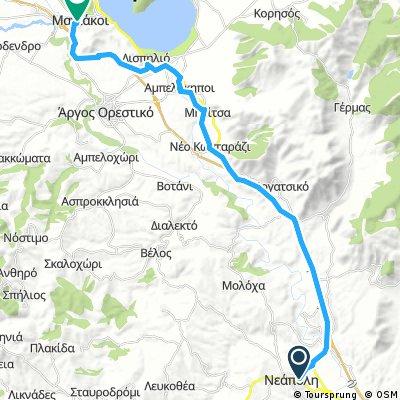 Neapoli naar Maniaki minder klimmen