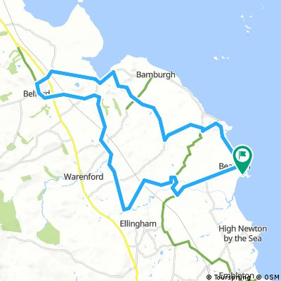 Beadnell 42k route