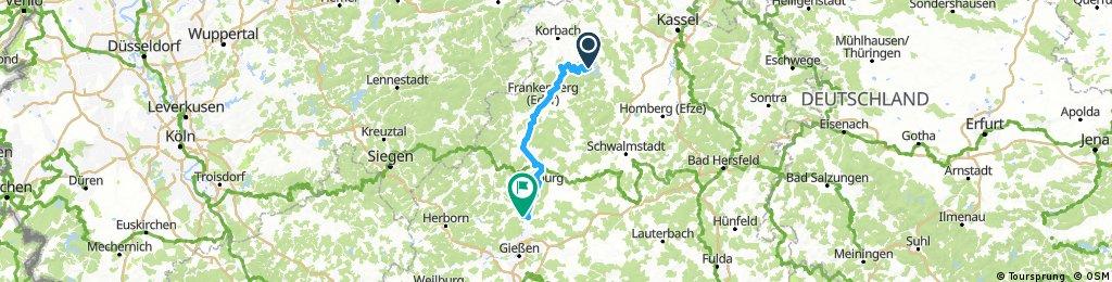 Edersee - Frankenberg - Weimar/Lahn