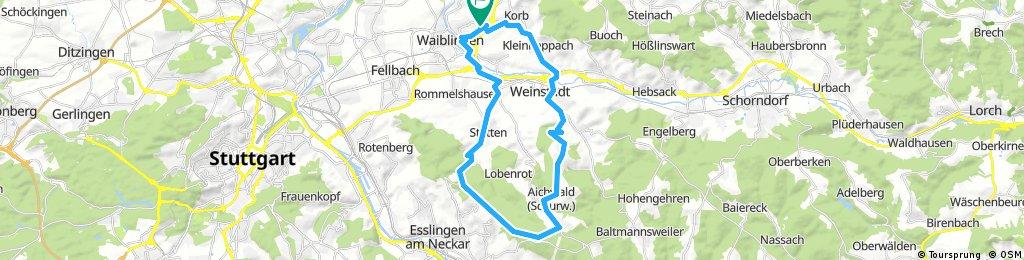 Waiblingen über Katzenkopf und Aichelberg