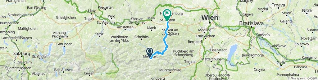 Mariazell-Lilienfeld- Wilhelmsburg-StPölten