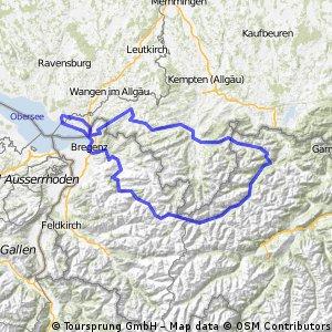 1( für ganz zähe ) -2 tägige Alpentour mit Start und Ziel am Bodensee