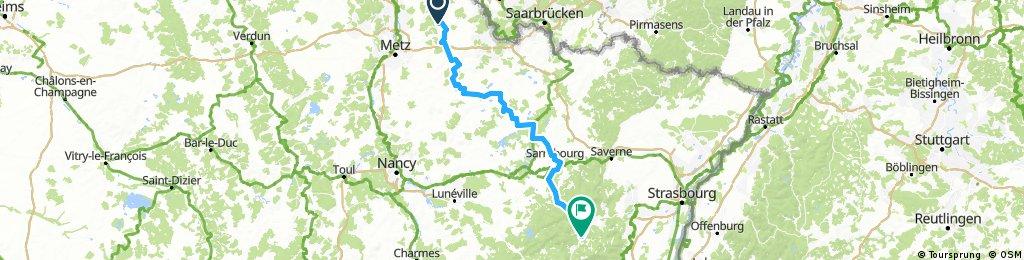 Rome, Etappe 3a, Burtoncourt - Rothau