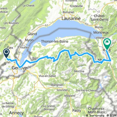 Stage 0, Saint-Genis - Aigle