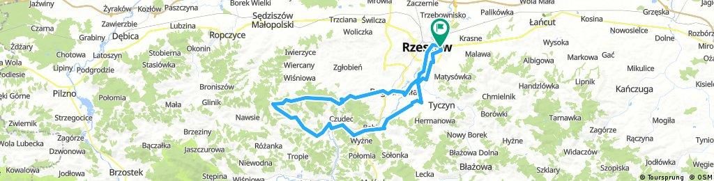 Pętla: Rzeszów - Wielki Las - Czudec - Nowa Wieś - Budziwój