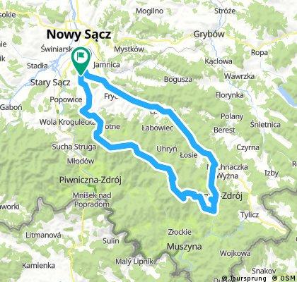Nowy Sącz-Krynica-Hala Łabowska- Hala Pisana