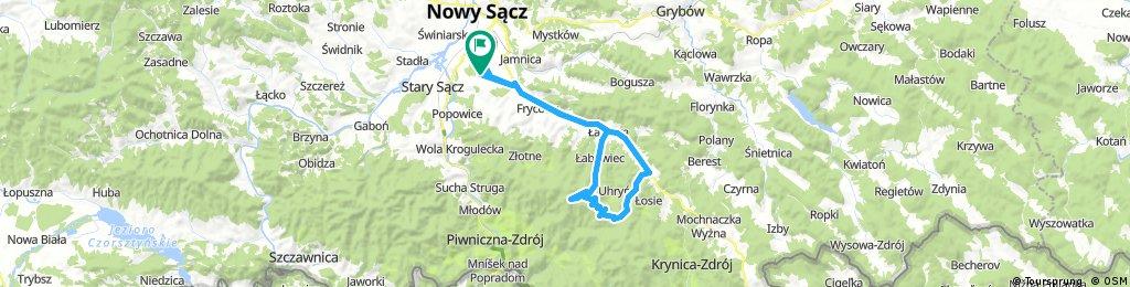Nowy Sącz-Łabowiec-Hala Łabowska-Nowa Wieś