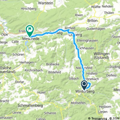 Ruhrtalradweg Etappe 1/4 (Winterberg bis Meschede)