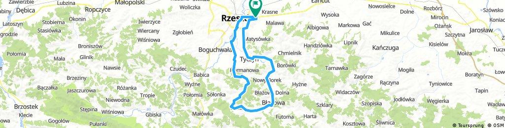 Rzeszów - Hermanowa Źródełko - Błażowa - Borek - Tyczyn