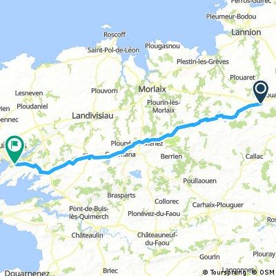 Belle Isle en Terre - - Brest 88km 6h  880m