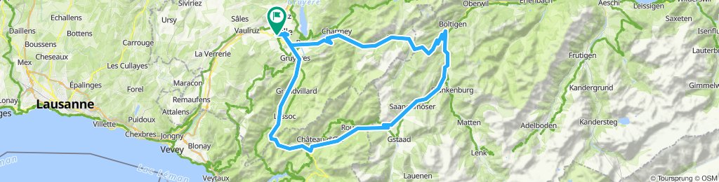 Jaunpass, Saanenmoserpass, Gruyère Loop