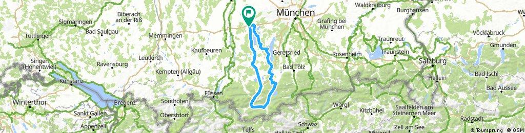 Crosstour Greifenberg - Walchensee