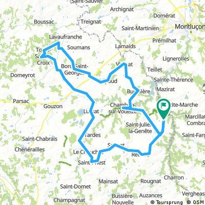 Evaux - Les Pierres Jaumâtres 110 kms