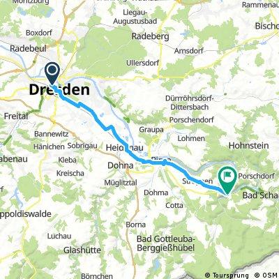 Dresden - Königstein am 10. Mai