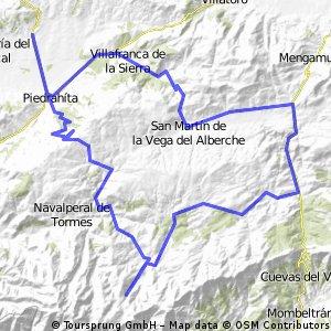 Malpartida de Corneja-Chía-Cepeda La Mora-Hoyos del Espino-Plataforma-Navacepeda de Tormes-Peñanegra-Malpartida de Corneja.
