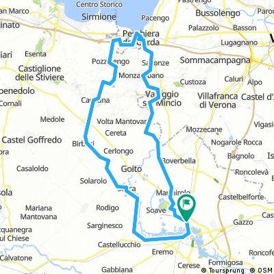 Mantova - Grazie - Rivalta sul Mincio - Cavriana - Peschiera del Garda - Bosco della Fontana