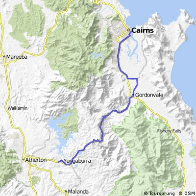 Cairns to Yungaburra (Gum Tree on Gillies)