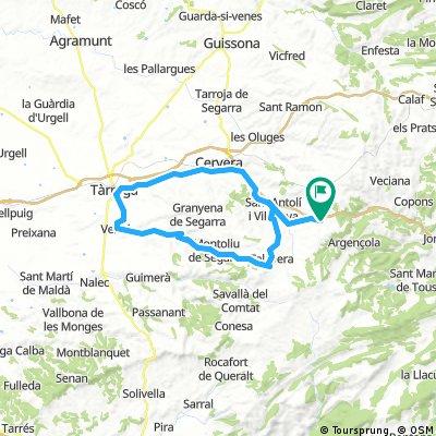 Ruta per la Segarra. Vall de Cercavins i de l´Ondara.