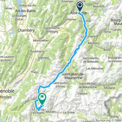 Etappe Französiche Alpen