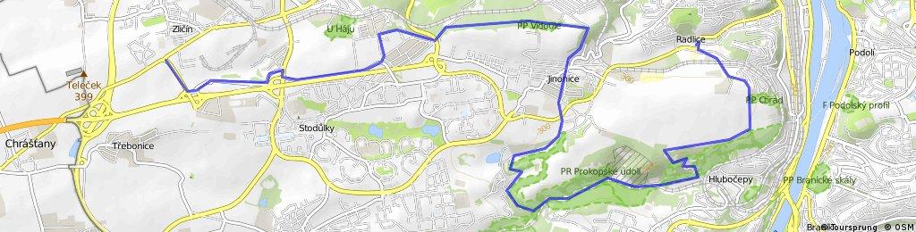 Zličín - Prokopské údolí - Radlice metro