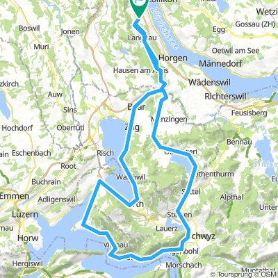 Adliswil - Sattel - Vierwaldstättersee - Adliswil