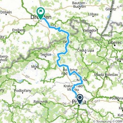 Elbe Radweg Prag- Dresden