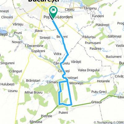 Bucuresti-Comana (traversare padure pe lungime)