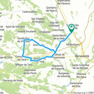 Pobladura del Valle - Quiruelas de Vidriales - Santibanez de Vidriales - Abraveses de Tera - Pobladura del Valle