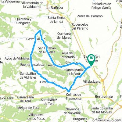 Pobladura del Valle - Morales del Rey - Castrocalbon - Quiruelas de Vidriales - Pobladura del Valle