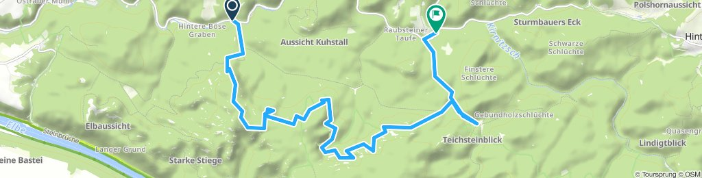 Wanderung Beuthenfall Häntzschelstiege Buschmühle