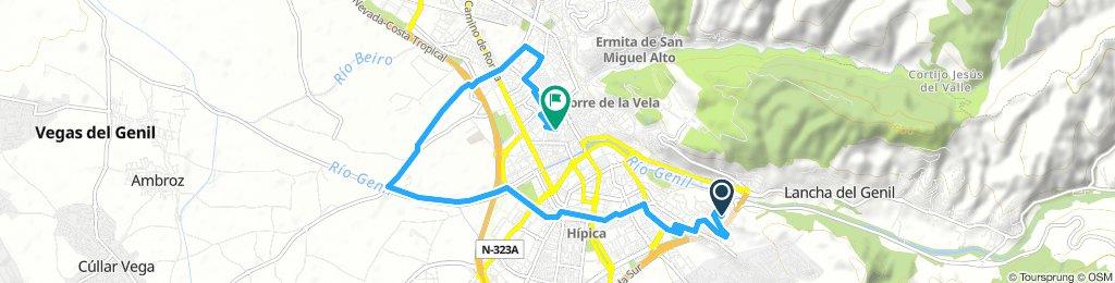 Prueba BikeMap por la Vega