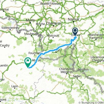 Dag 4 Dinant - Vervins 109km