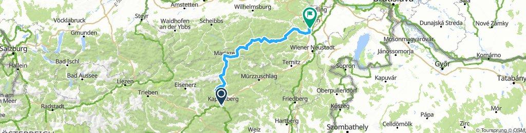 Bruck/Mur - Bad Vöslau über Mariazell