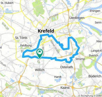 Rundtour im Krefelder Süden ab/ an KR Hbf