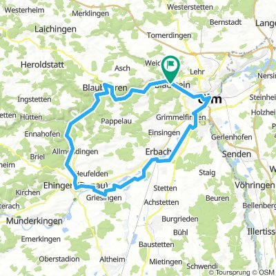 Blaubeuren - Ehingen (Donau) - Ulm