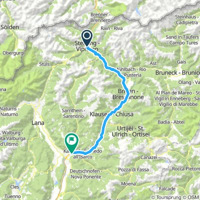 prima tappa Vipiteno Bolzano