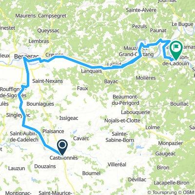 3. Teilstrück castillones le buisson de Coadoin 95 km 570