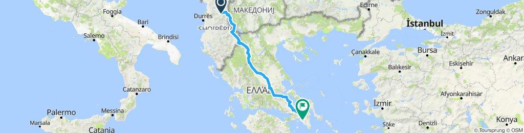 Albanie direct Athenes