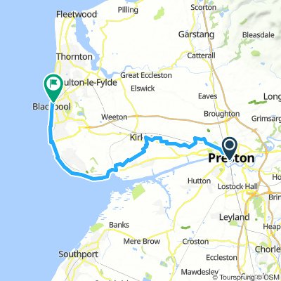 Preston to Blackpool via Lytham