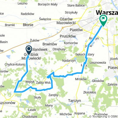 Grodzisk-Radziejowice-Siestrzeń-Wólka Kosowska-Warszawa