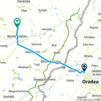 Nagyvárad-Berettyóújfalu-Nagyvárad: kb. 80 kilométer, és izomláz sehol :)