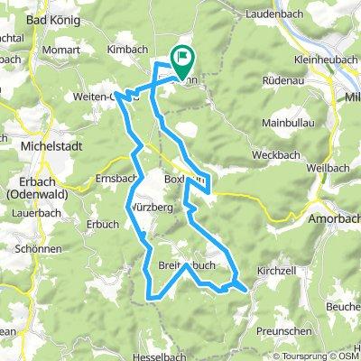 Vielbrunn - Gönz - Boxbrunn - Watterbach - Dörnbach - Breitenbuch - Würzberg - Eulbach - Weiten-Gesäß