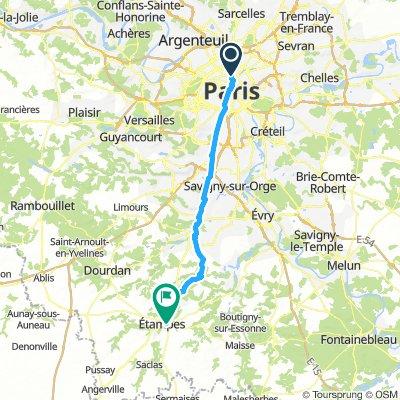 Paris to Etamps