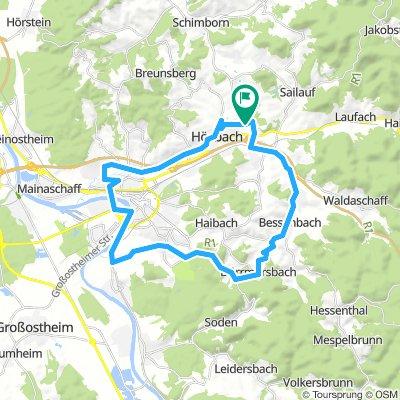 Hösbach Schwoihe Bischberg und zurück