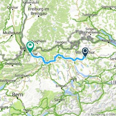 2. Winterthur nach Pratteln (Basel)