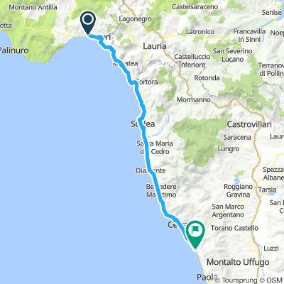 12 Sapri (SA) - Paola (CS) km 104