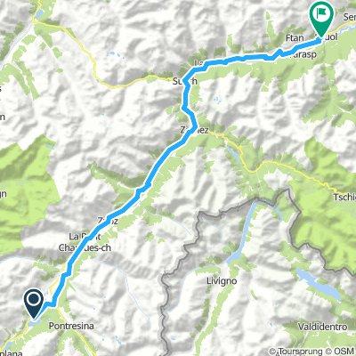 St. Moritz --> Scoul leicht