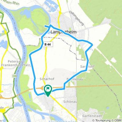 Sandhofen, Lampertheim, Biedesand,Blumenau und zurück