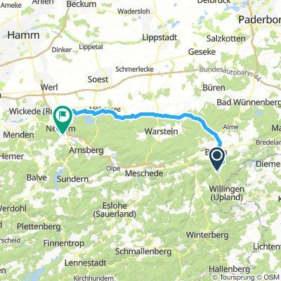 Möhnetal Radweg