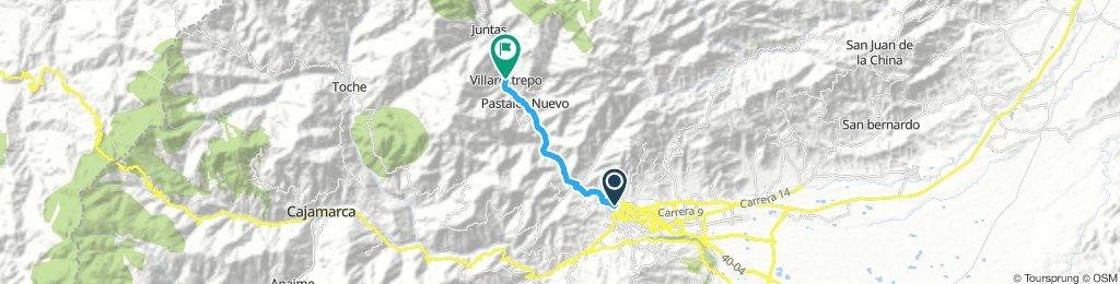 villa Restrepo | Bikemap - Your bike routes